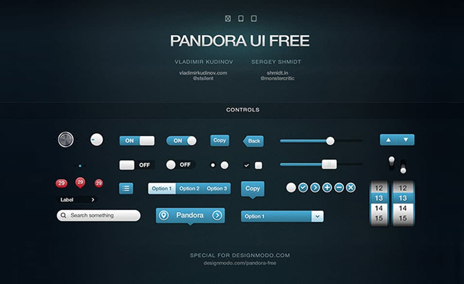Pandora UI Free for iOS User Interface Pack