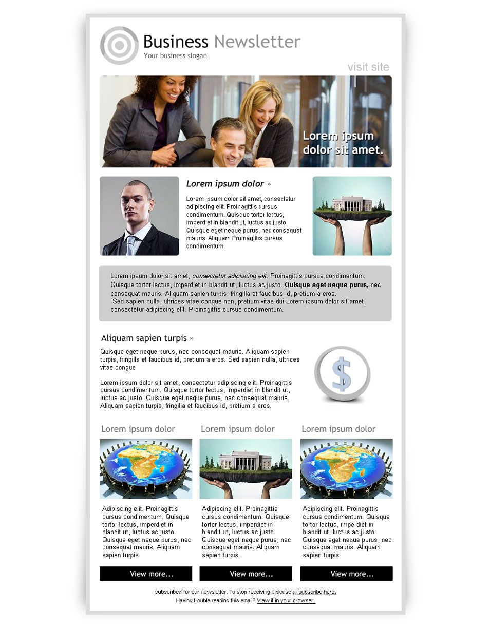 Best Free Email Newsletter Design Templates Latest Collection – Company Newsletter Template Free