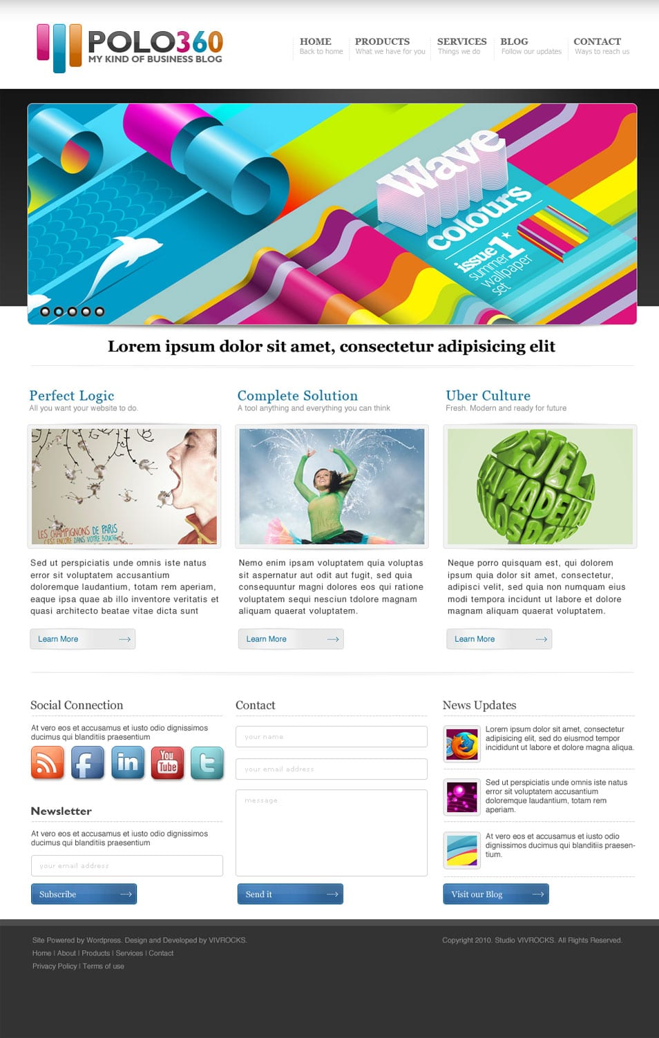 Latest free web page templates psd css author for Homepage shop
