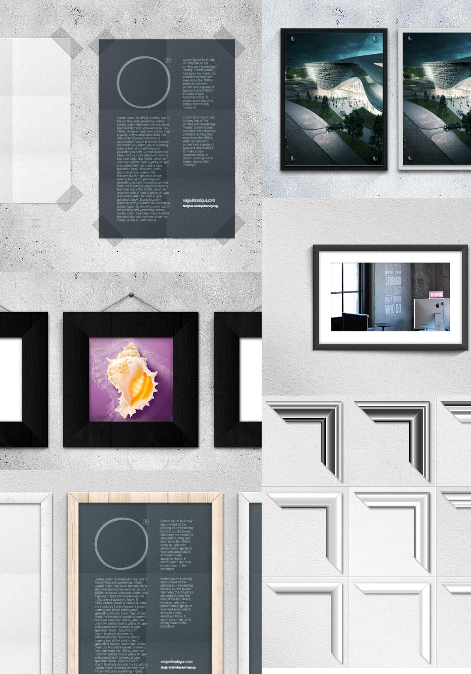 Poster Frame Mockups (Psd / Vector)