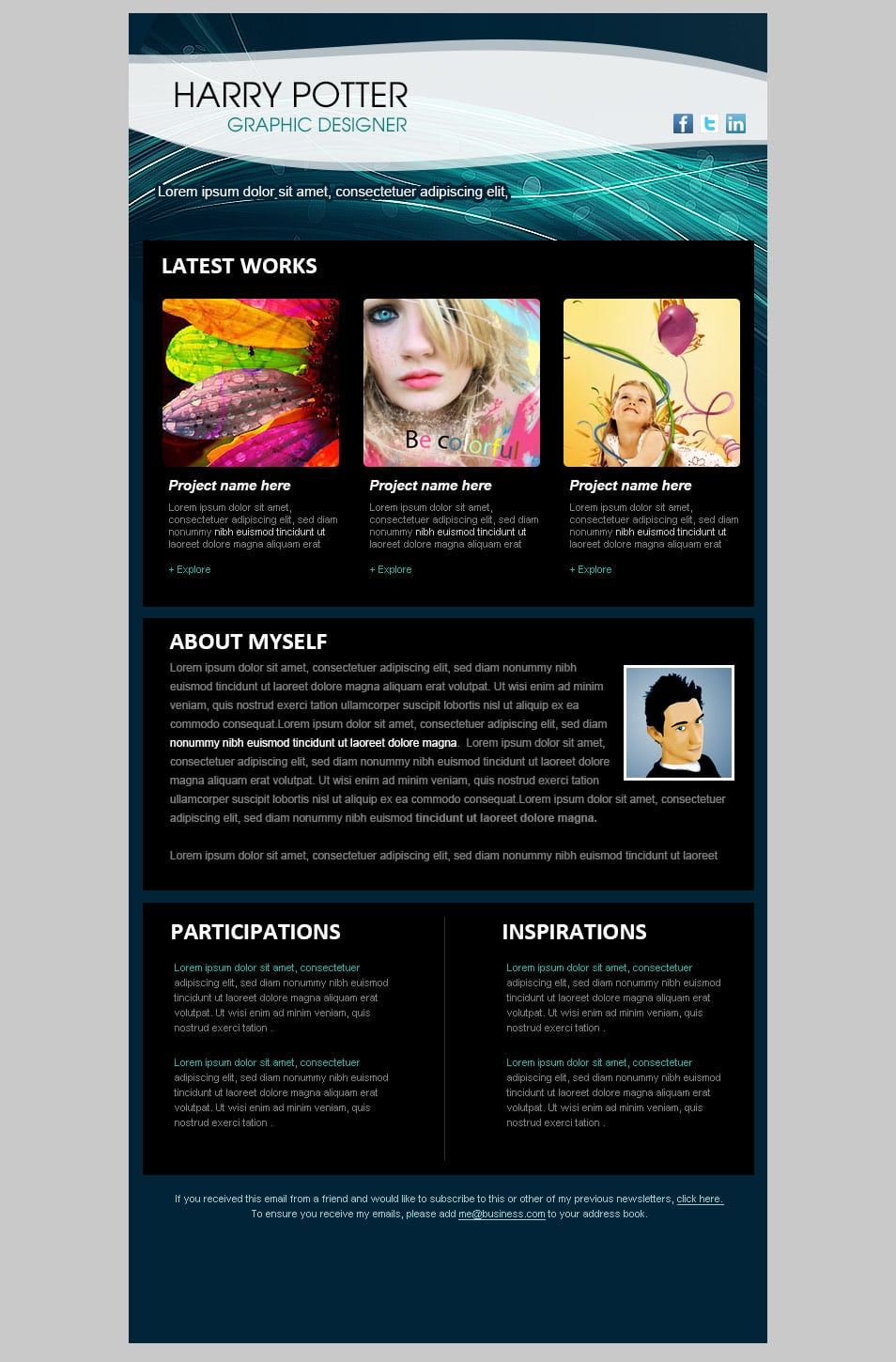 this email newsletter is designed for a graphic artist or designer 2TopqUxQ