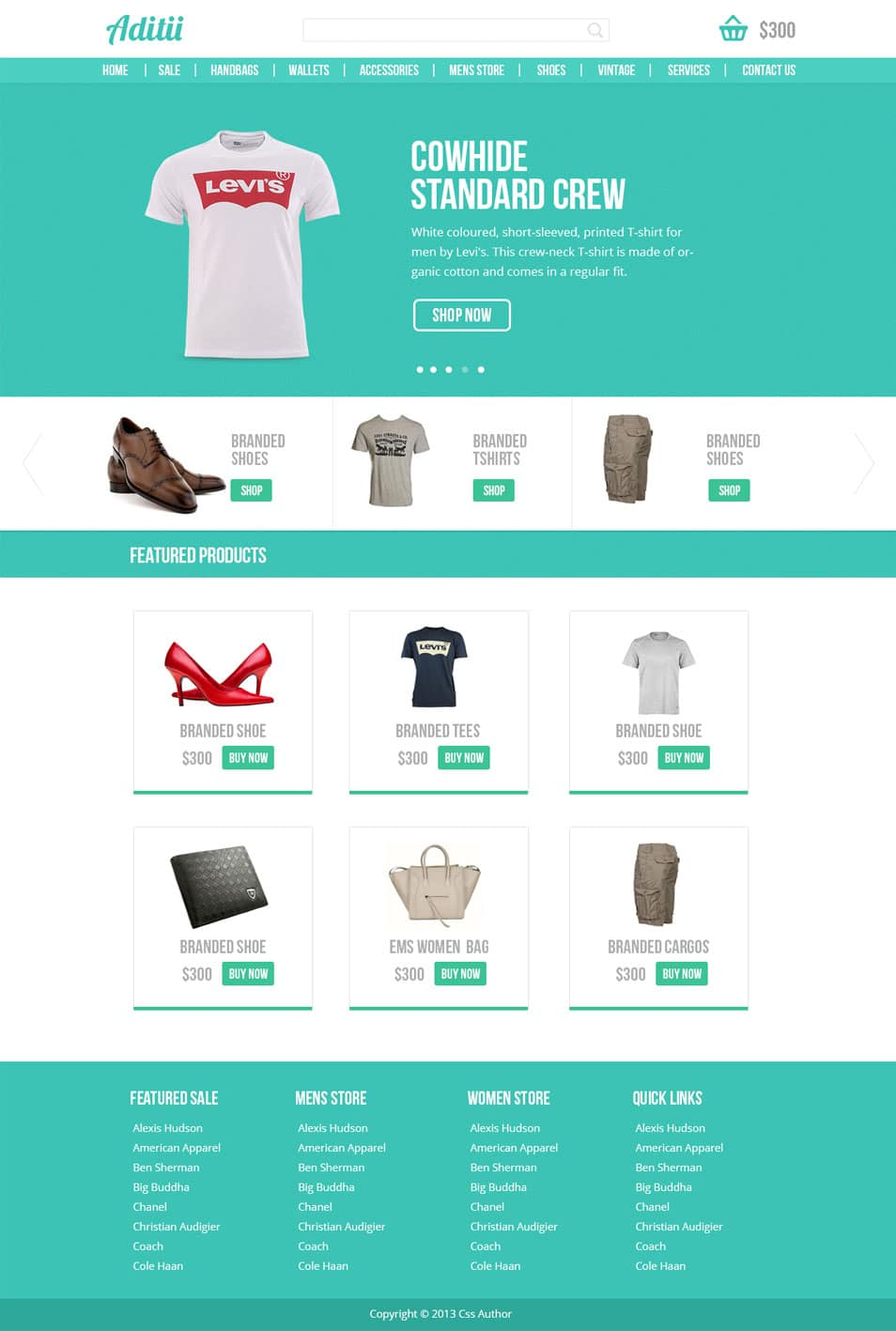 Premium Ecommerce Website Template PSD - cssauthor.com