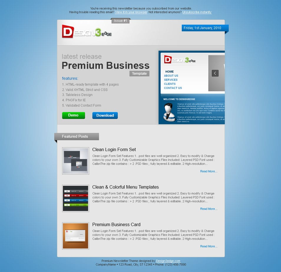 Premium Newsletter Theme