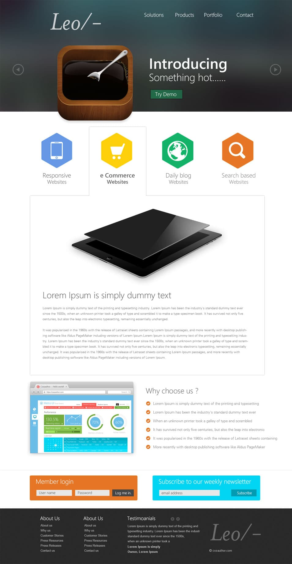 Professional Website Template Design PSD - cssauthor.com