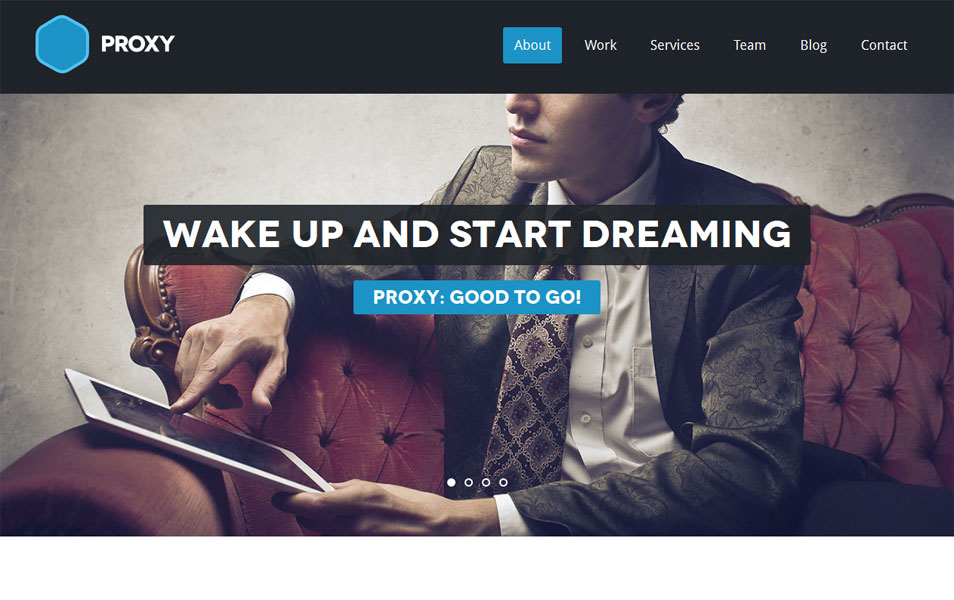 Proxy - One page Responsive WordPress Theme
