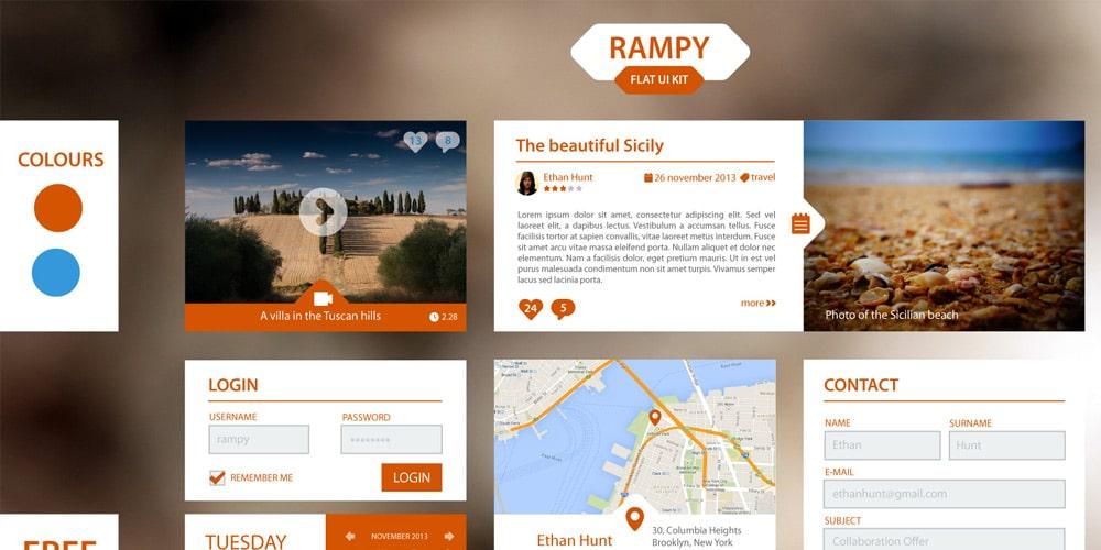 Rampy Flat UI Kit