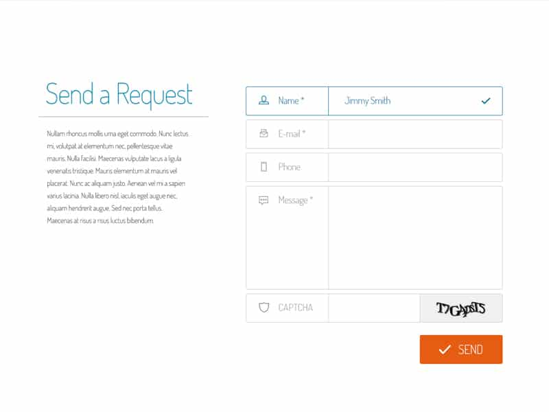 Request Form PSD