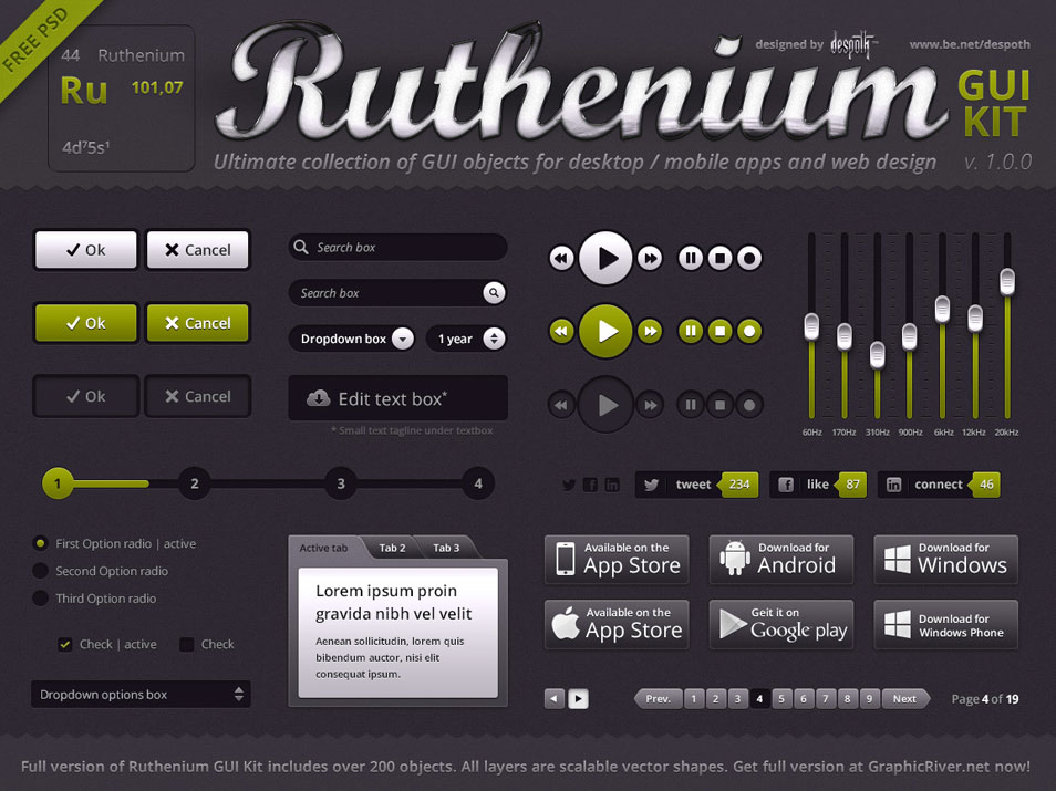 Ruthenium-GUI-Kit-Free-PSD