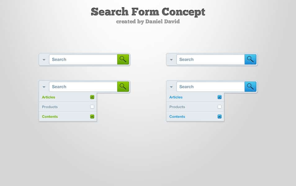 Search Form Free PSD