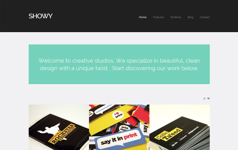 Showy - Bold & Flat Portfolio