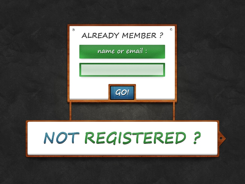 Sign In Forms PSD