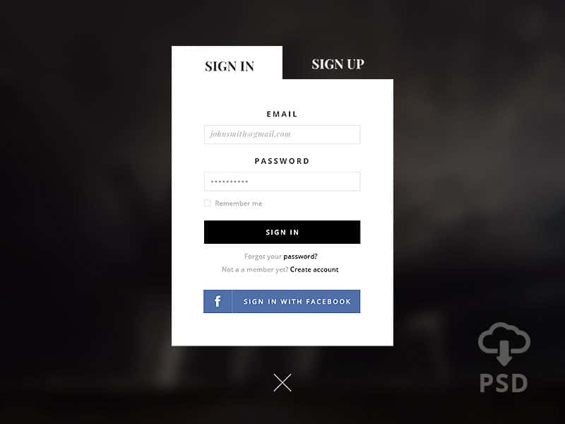Sign-Up-Form-PSD