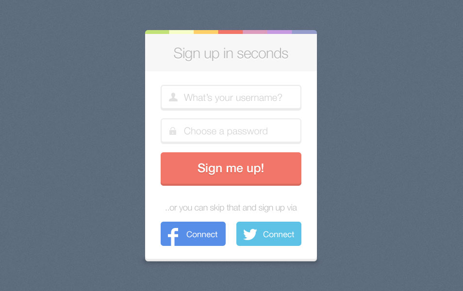 Sign up Free PSD