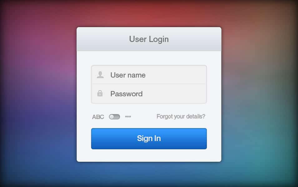 Simple and Fresh Login Form