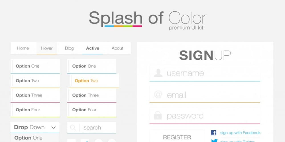 Splash of Color Premium UI Kit