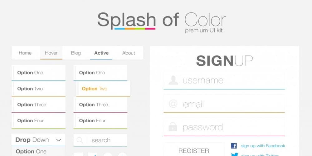 Splash of Color Premium UI Kit