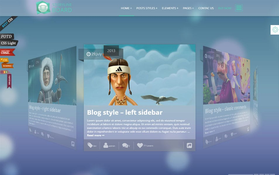Storyline Board WordPress Theme