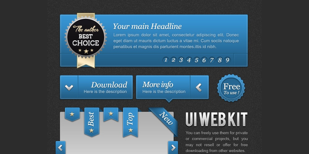UI Blue Web Kit
