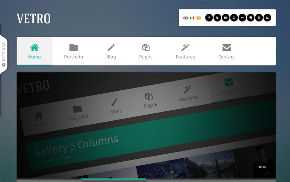Vetro - A Flat UI WordPress Theme