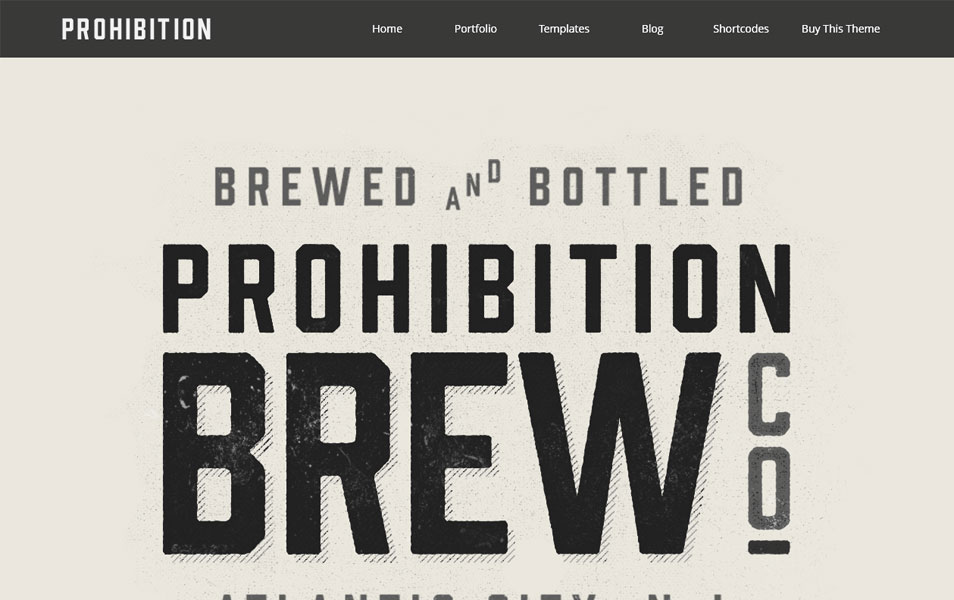 WP Prohibition Responsive Creative WordPress Theme