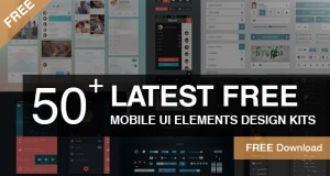 50+ Latest Free Mobile UI Elements Design Kits