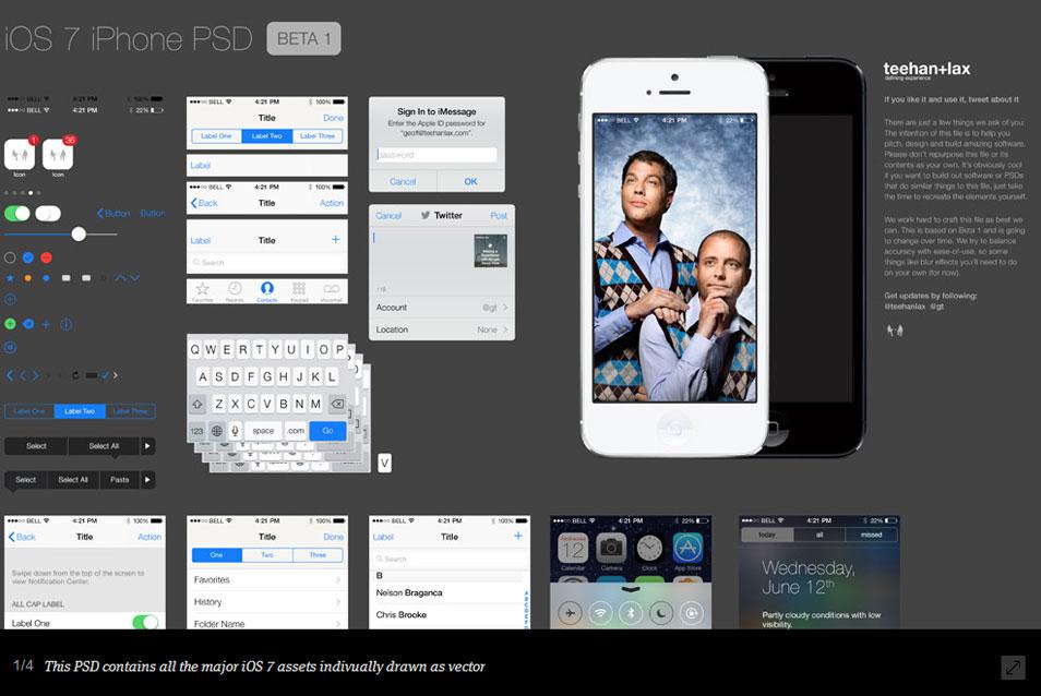 iOS 7 GUI PSD