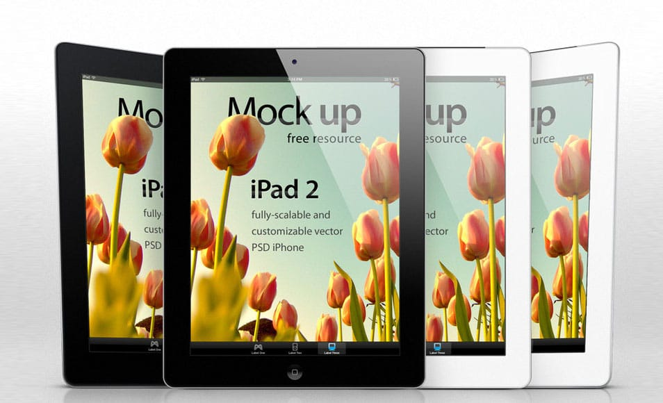 iPad 2 Psd Vector Mockup Template