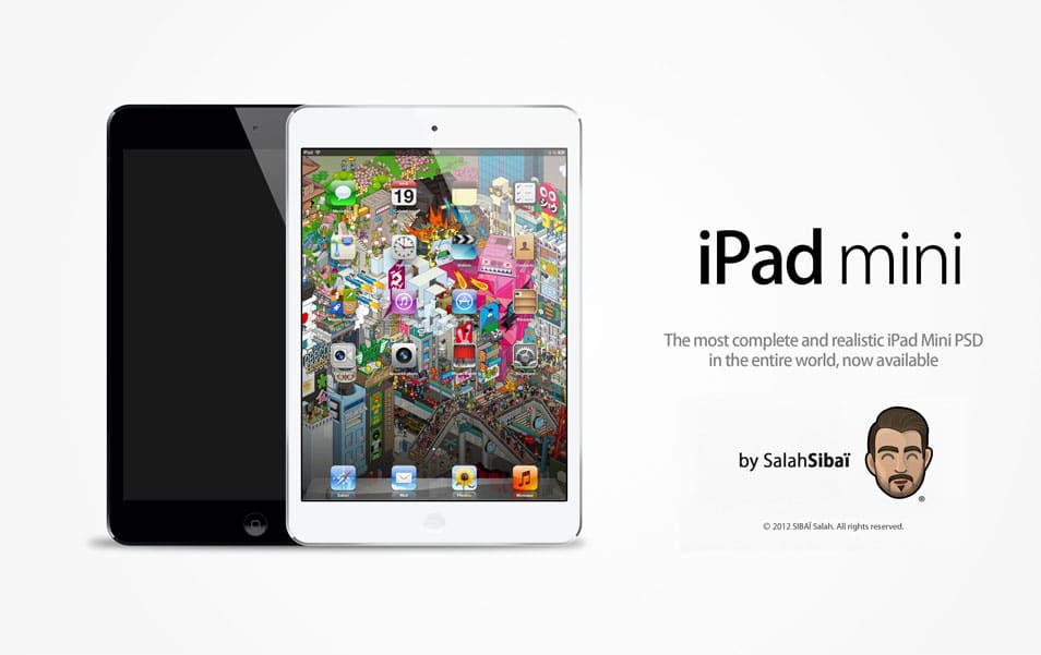 iPad Mini PSD MockUp