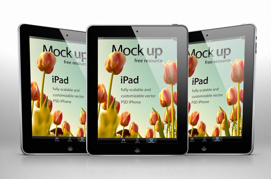 iPad Psd Vector Mockup Template