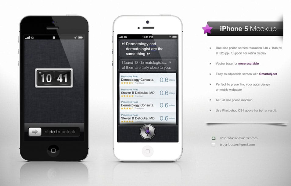 iPhone 5 Mock up Hi-Res