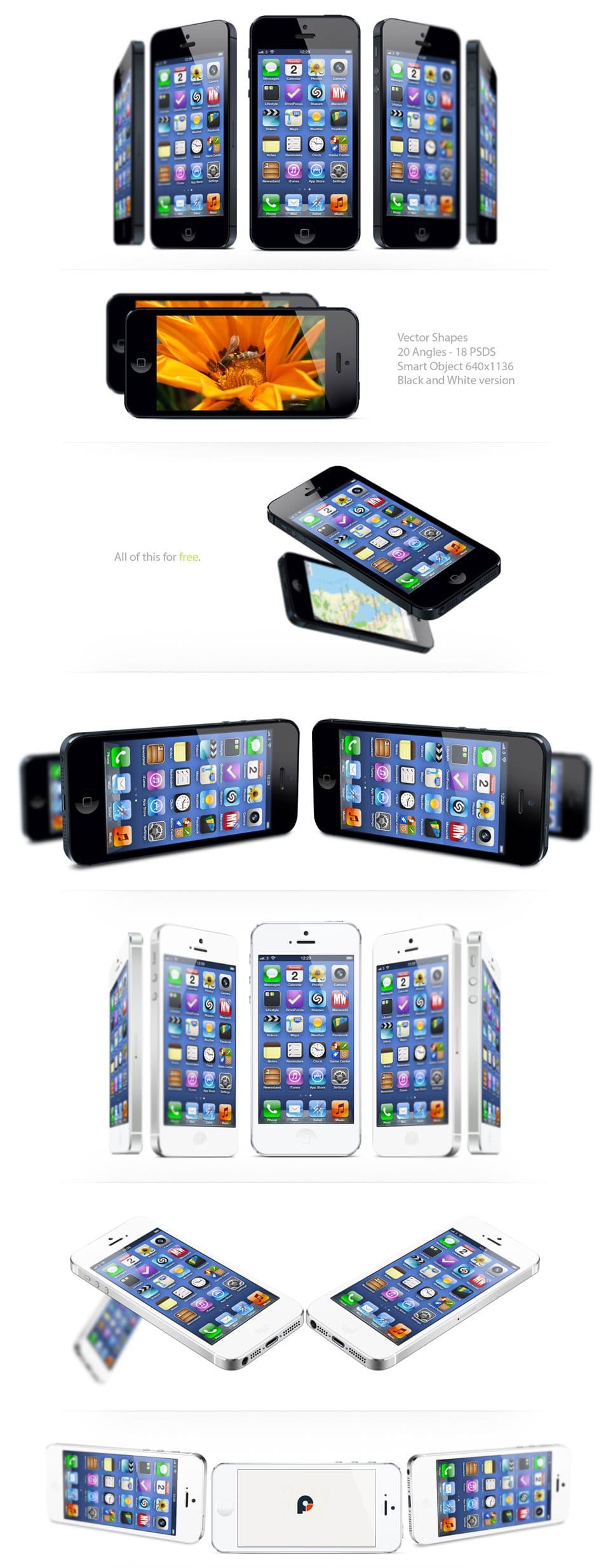 iPhone 5 Mock ups FREEMIUM