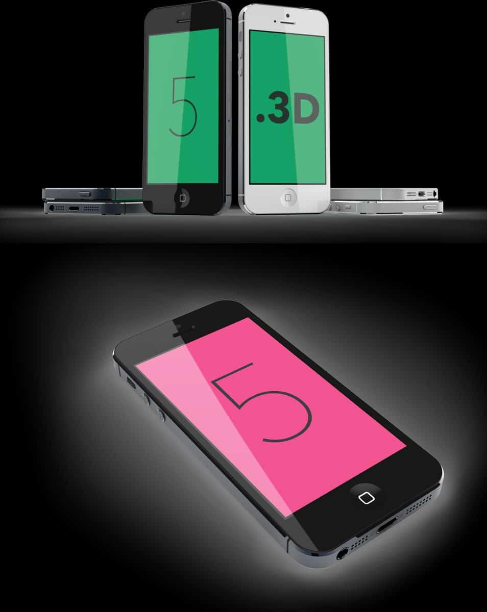 iPhone 5 model designed for Cinema 4D