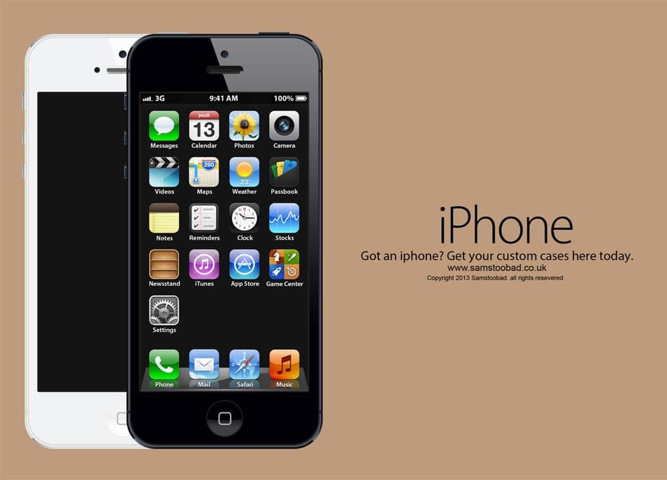 iphone 5 psd mockup