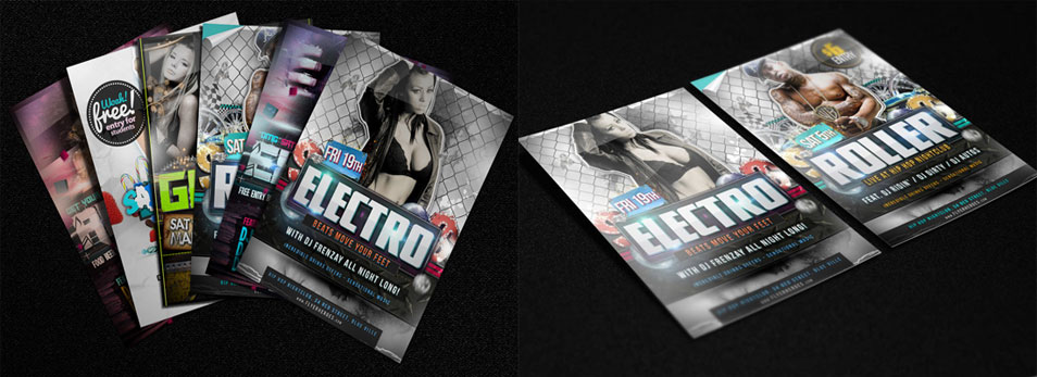 3 free Photorealistic Flyer Mock Ups