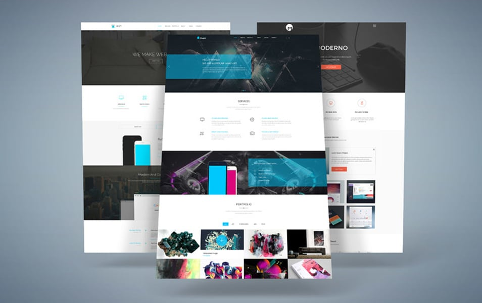 3D Web Presentation Mock-Up