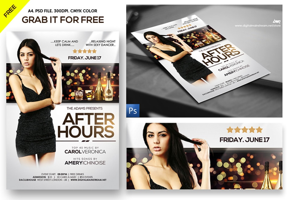 After Hours Party Nightclub Flyer Template