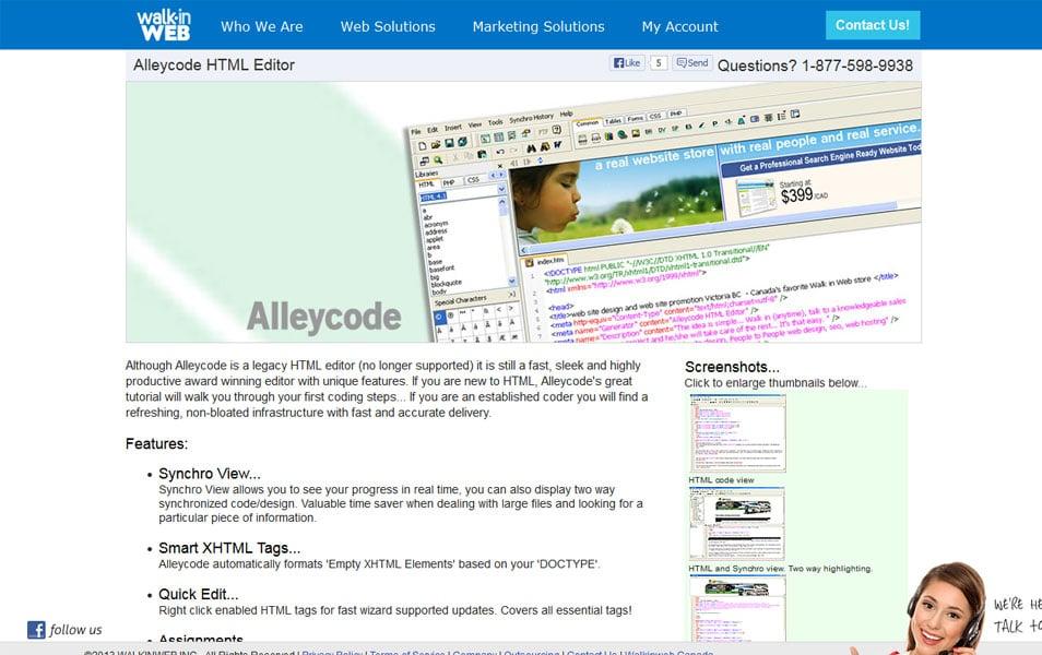 Alleycode HTML Editor