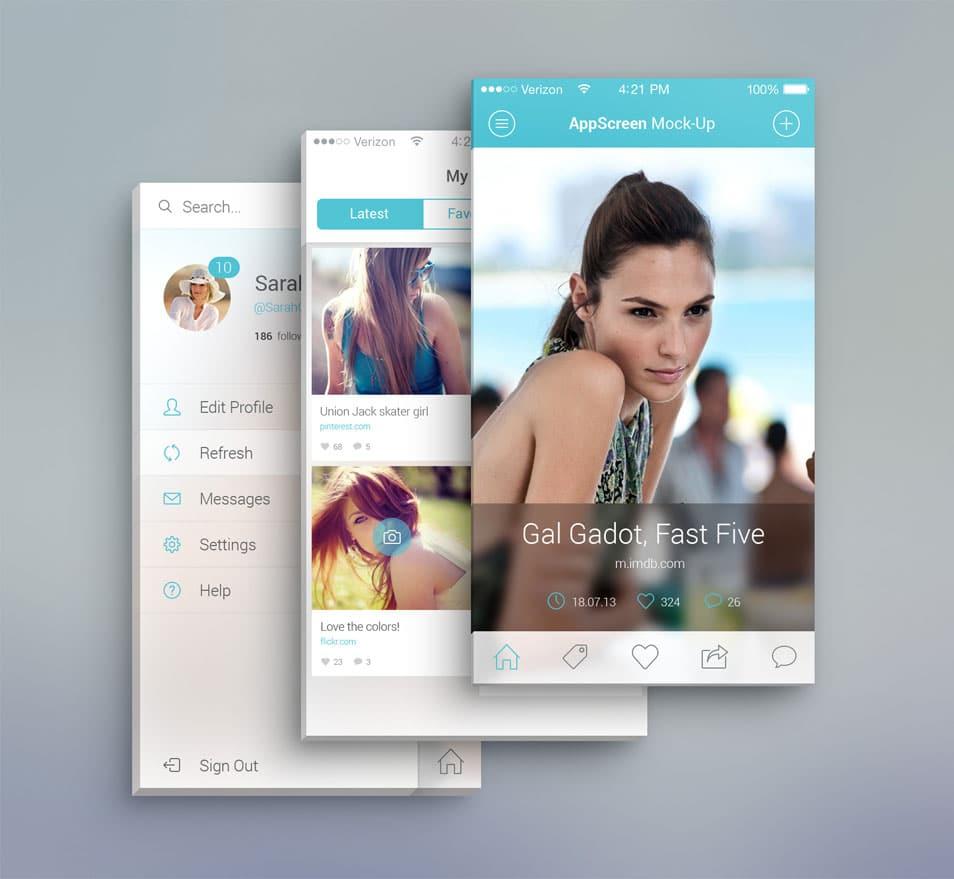 App Screen Front View MockUp