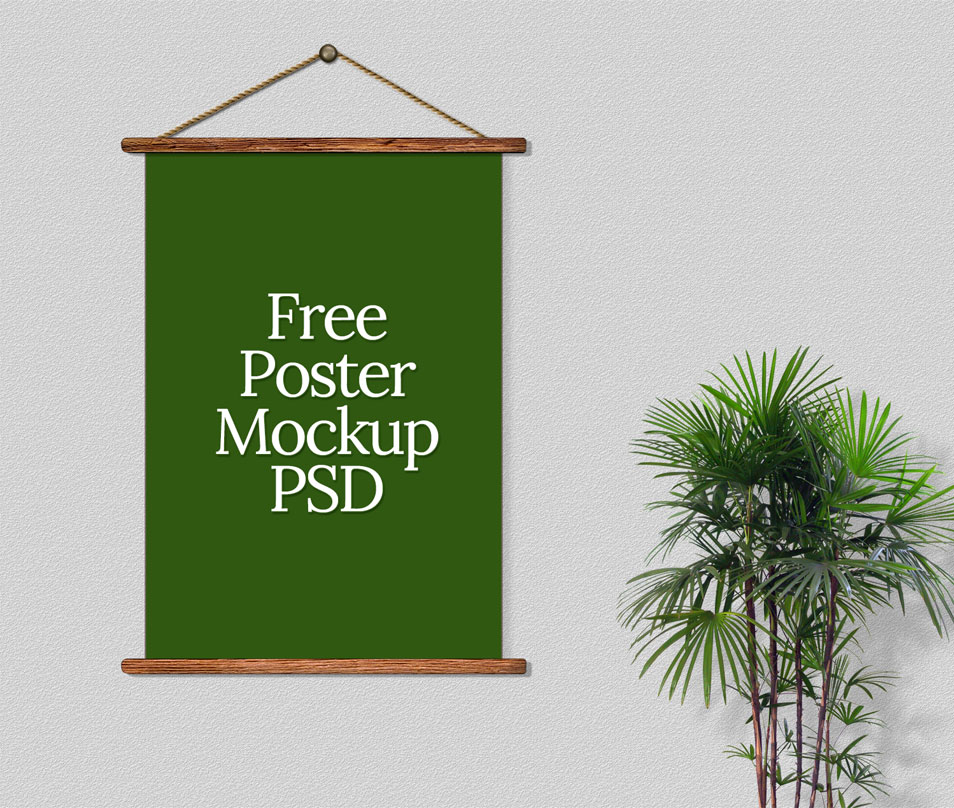 Beautiful Free Poster Mock Up PSD Template
