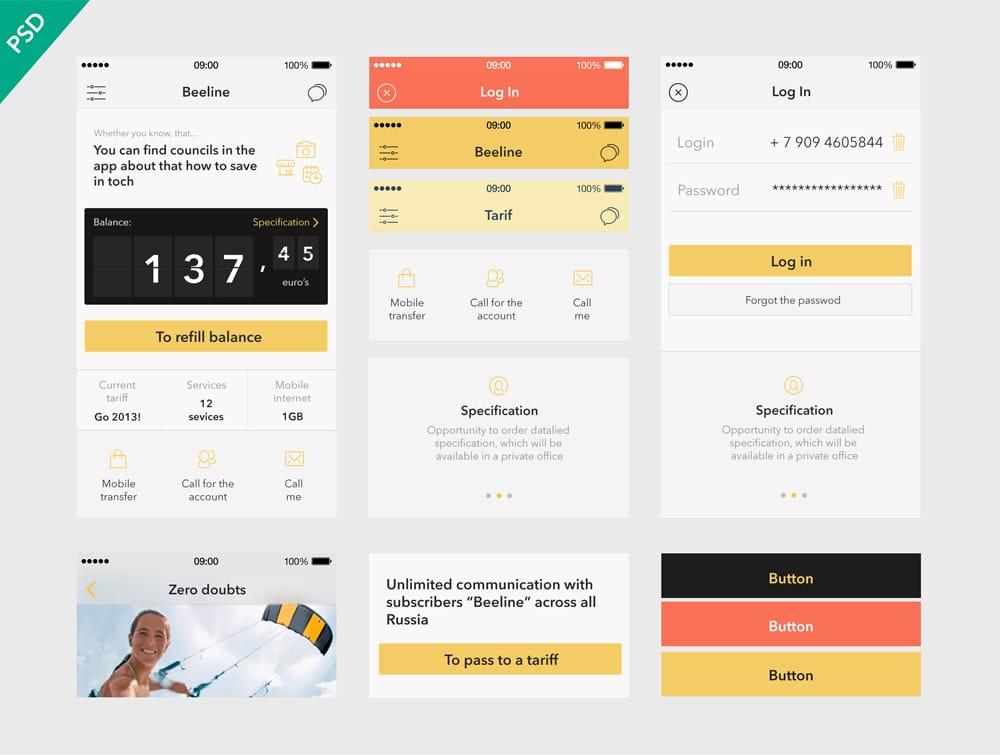 Beeline App UI Kit