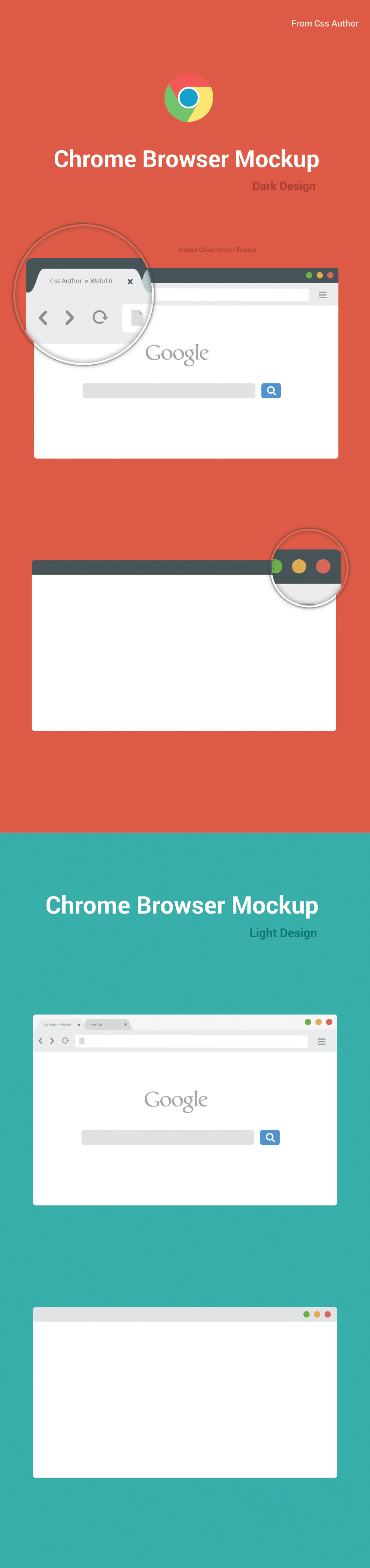Free Chrome Browser Mockup Design Template – Vector