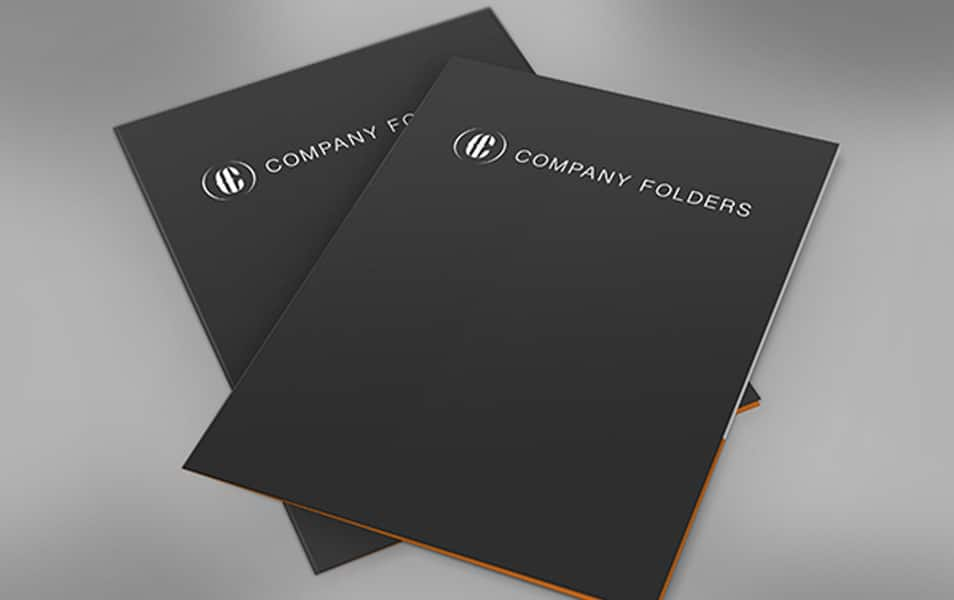 Dual Stacked Presentation Folders Mockup Template