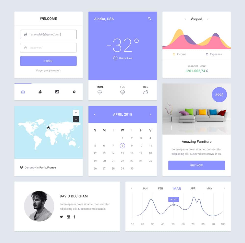 Epic UI kit PSD