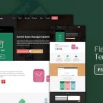 Flat App - Flat Website Template PSD Download - cssauthor.com