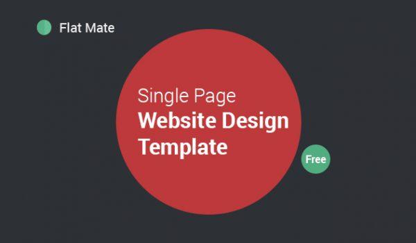 Flat Mate - Single Page Website Design Template PSD - cssauthor.com