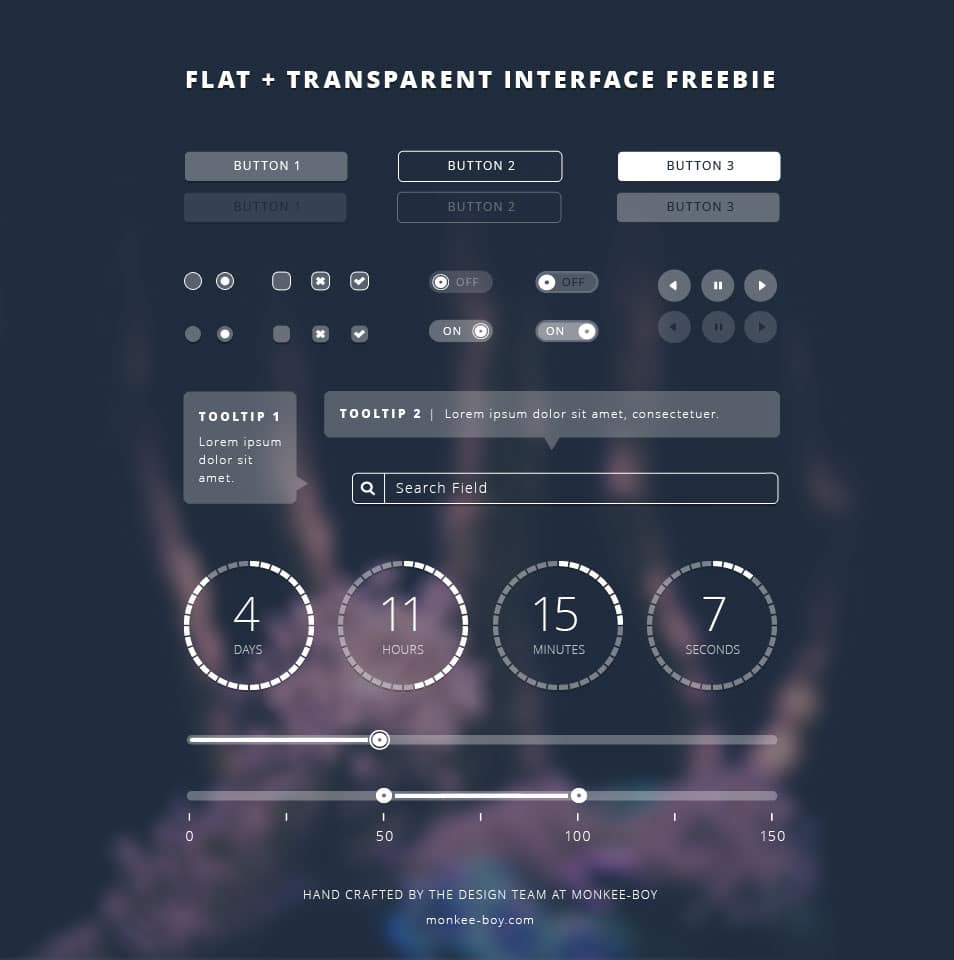 Flat Transparent UI