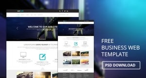 Free Business Web Template PSD Download – Freebie No:124