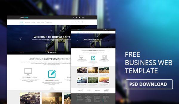 Free Business Web Template PSD Download - cssauthor.com