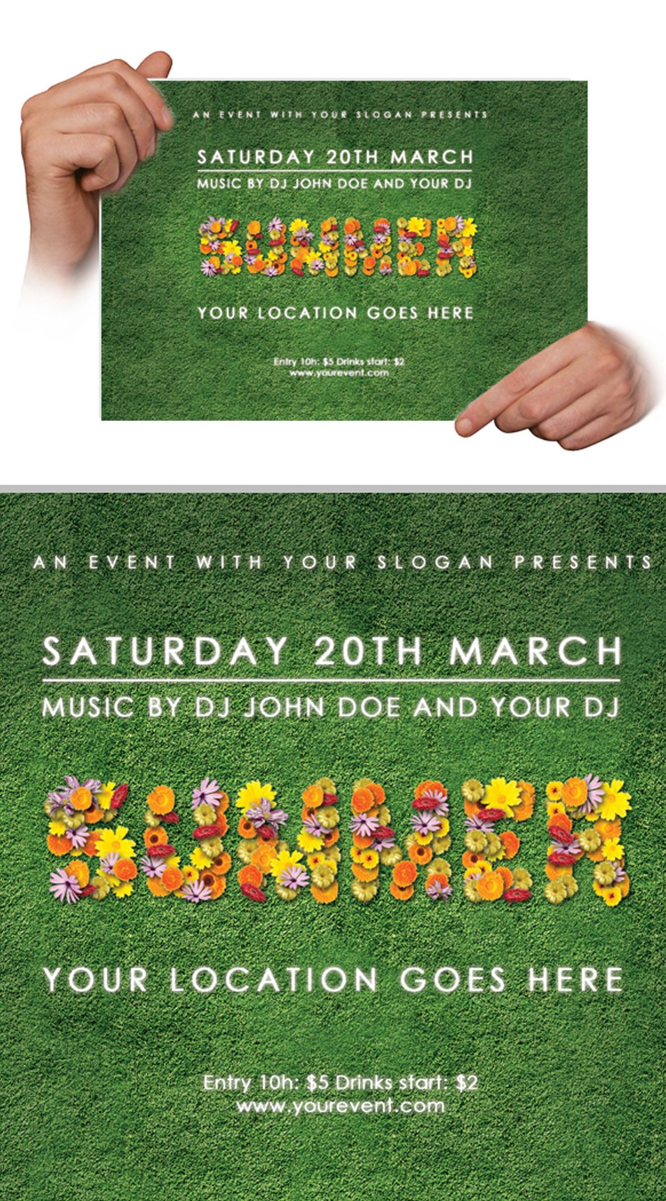 Free Flyer Flower Template