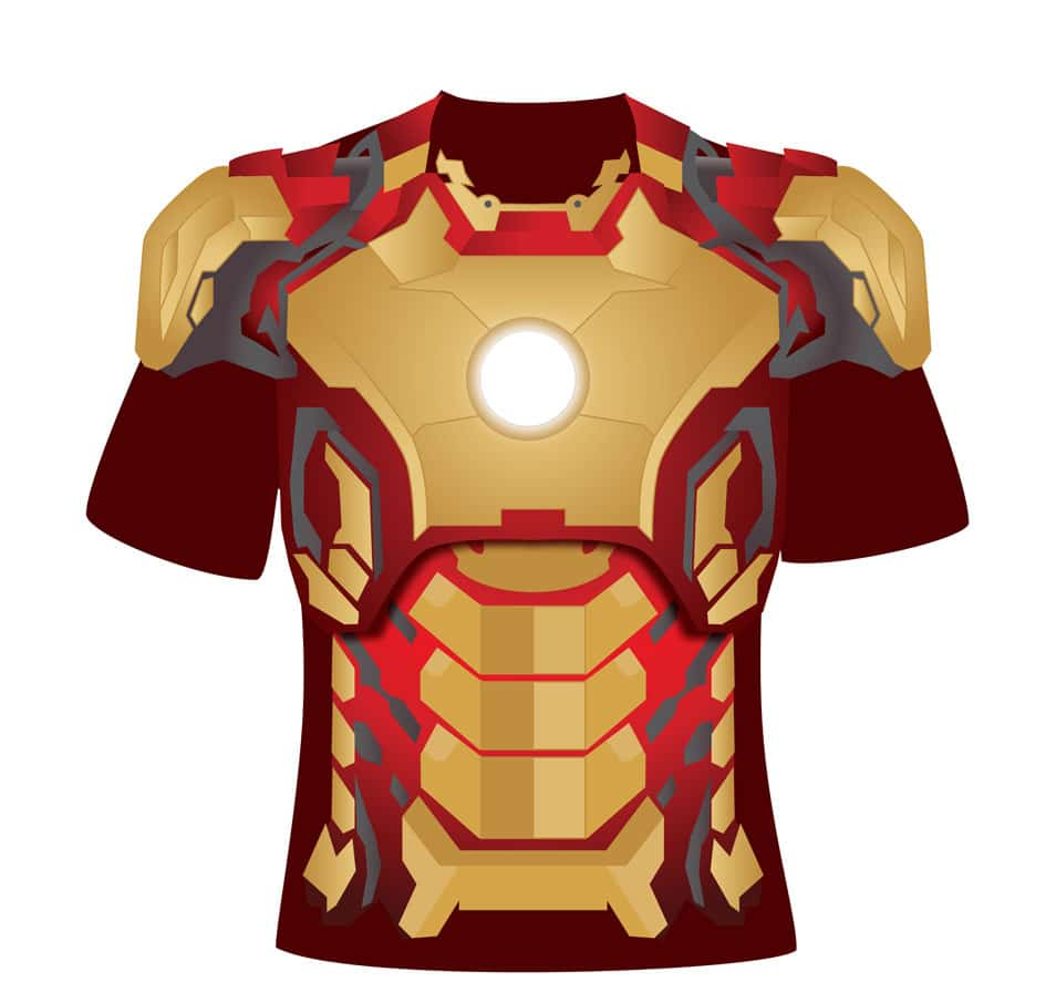 Free Iron Man 3 T-shirt Design PSD Template